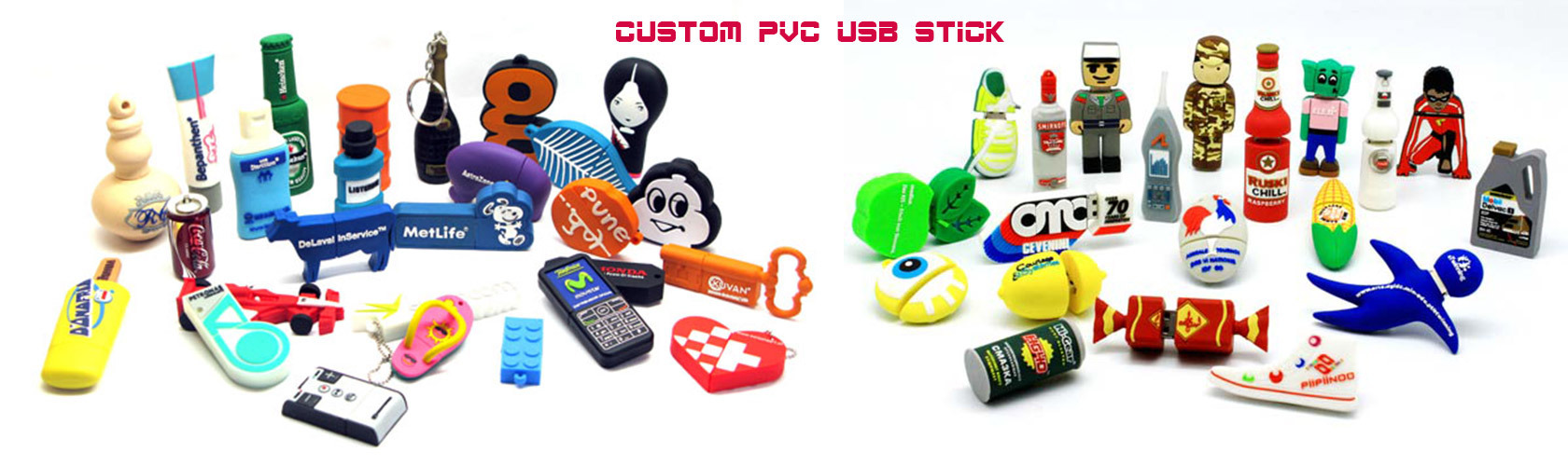 Get creative with a custom shaped rubber USB flash drive