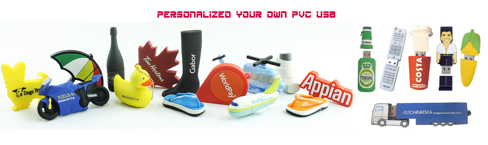 Custom PVC USB drives and custom-made USB